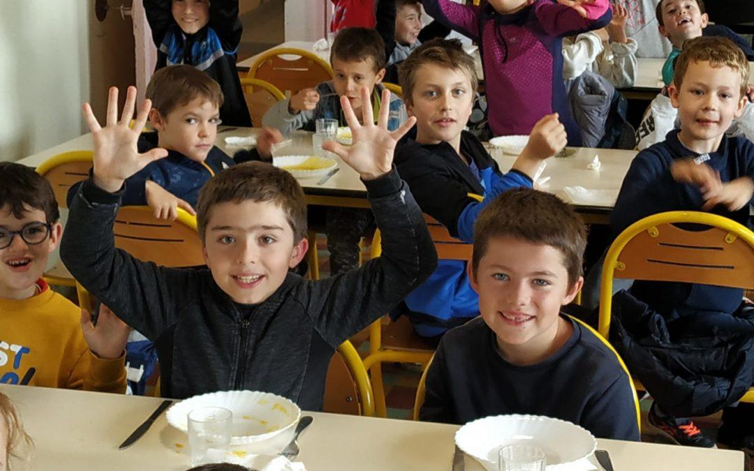 Dernier repas à la cantine de l'école !