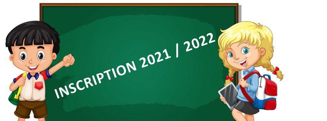Inscriptions pour la rentrée 2021