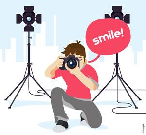 Le photographe à l'école